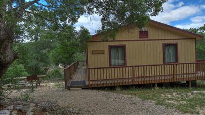 Buena Vista Cabin - Foxfire Cabins, Texas Hill Country Cabins on the Sabinal River. Biker friendly, Family Oriented, Pet Friendly